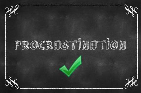 Procrastination Chalkboard